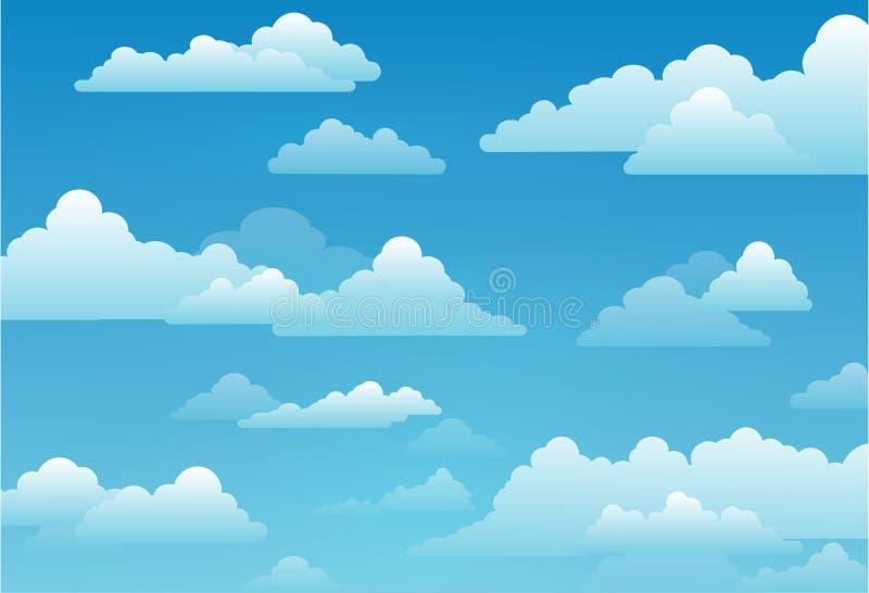 与云彩的天空在一个晴天,传染媒介例证 皇族释放例证