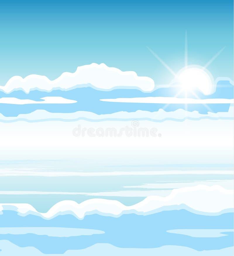 与云彩的天空 向量例证