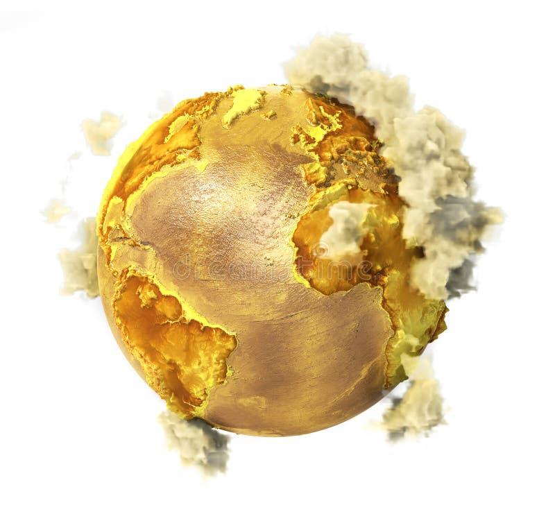 与云彩的毒性行星 库存例证