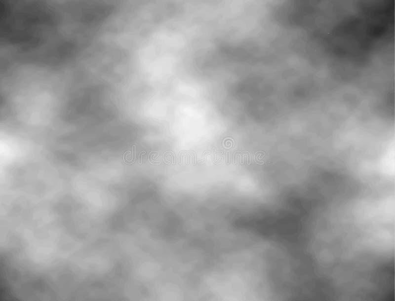 与云彩的灰色天空 向量背景 构造黑暗与积云的困厄的ominousb云彩 皇族释放例证