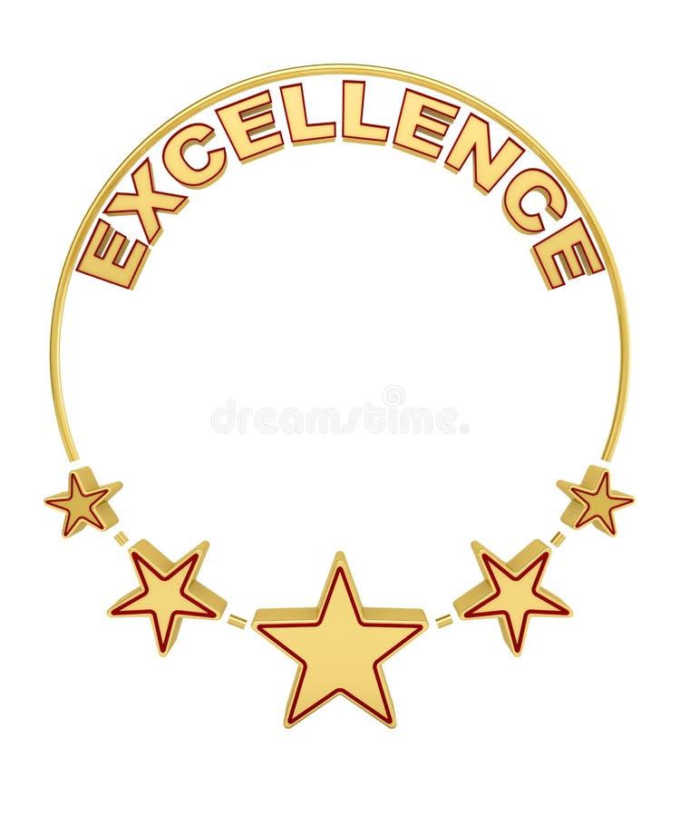 与五个星的优秀奖 库存例证