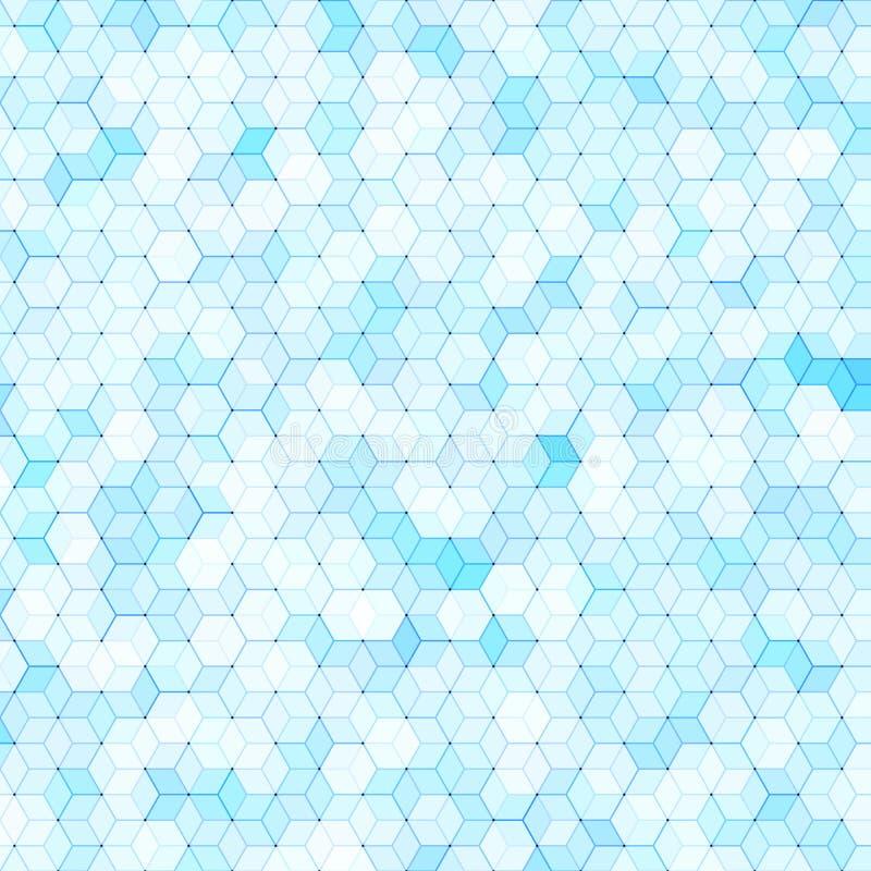 与五颜六色的六角形的多角形的抽象背景 向量例证