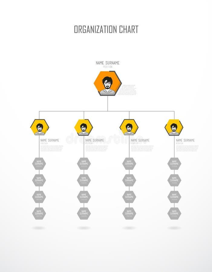 与五颜六色的圈子的组织系统图您的文本的模板和地方 库存例证