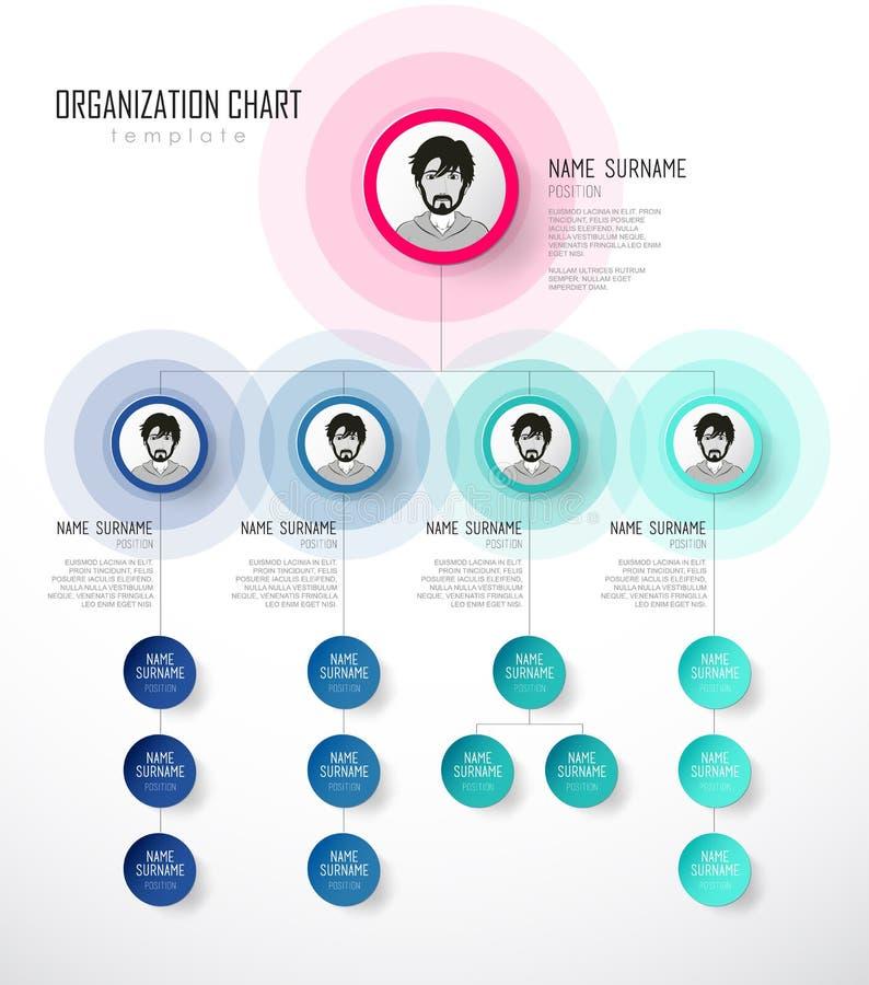 与五颜六色的圈子的组织系统图模板 向量例证
