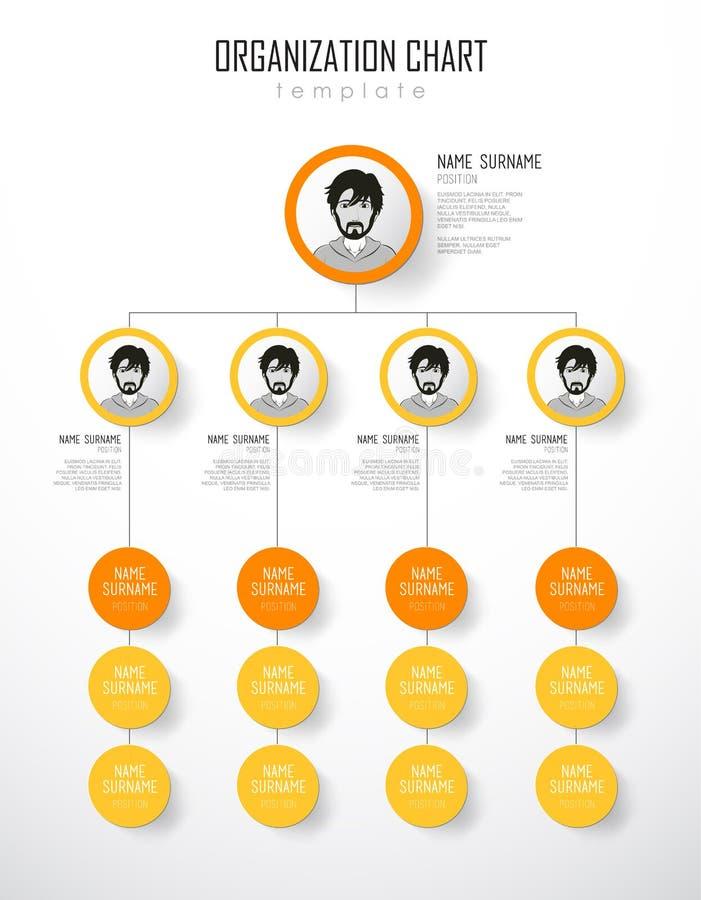 与五颜六色的圈子的组织系统图模板 皇族释放例证