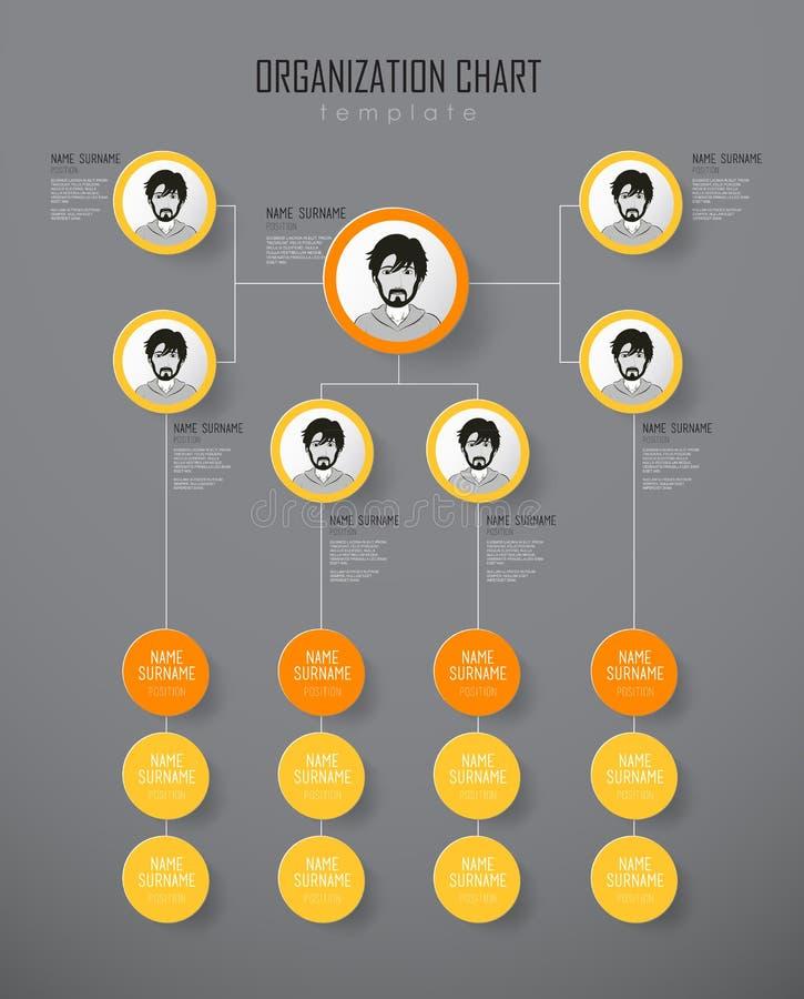 与五颜六色的圈子的组织系统图模板 库存例证