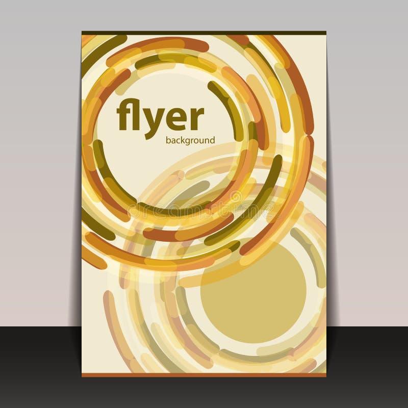 与五颜六色的抽象样式-小点,圆环,泡影的飞行物或盖子设计 库存例证