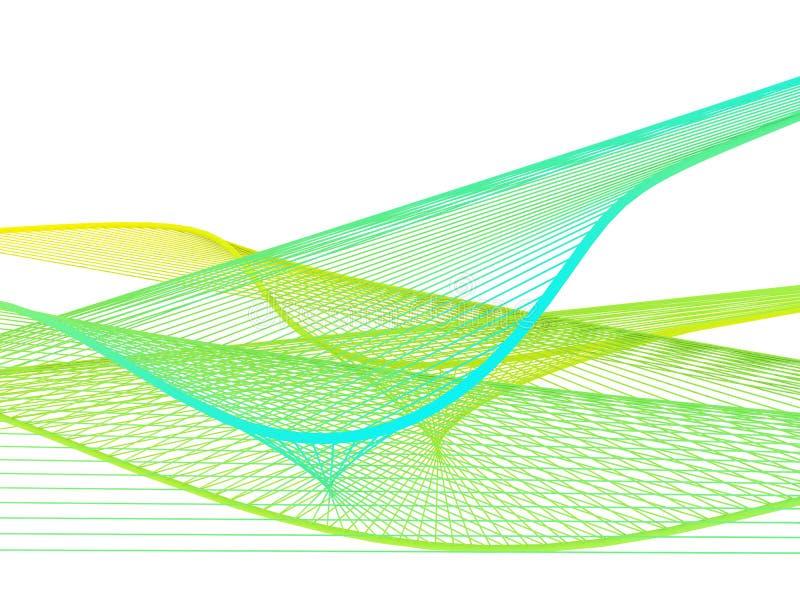 与五颜六色的梯度的动态和明亮的线性螺旋 库存照片