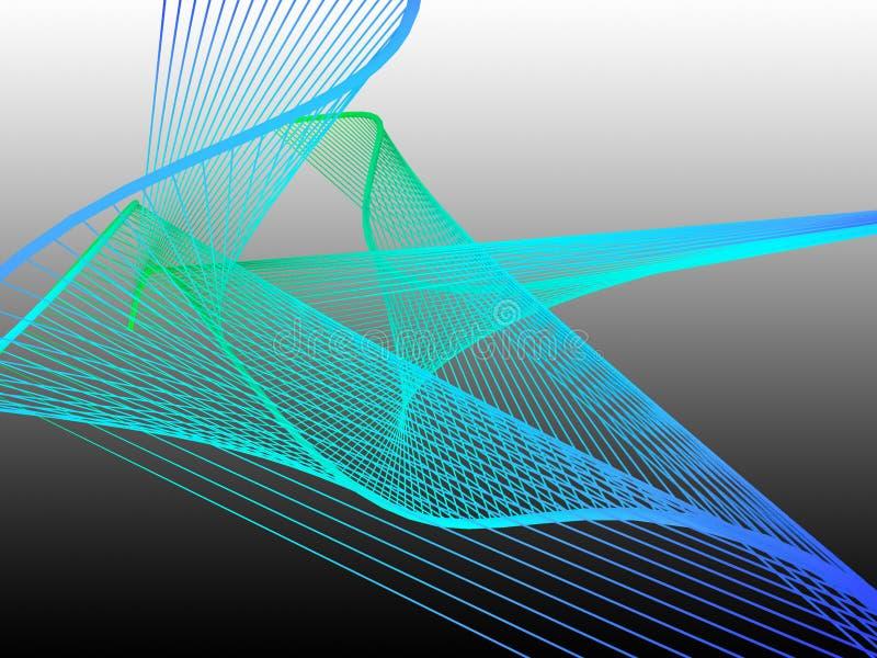 与五颜六色的梯度的动态和明亮的线性螺旋 免版税图库摄影