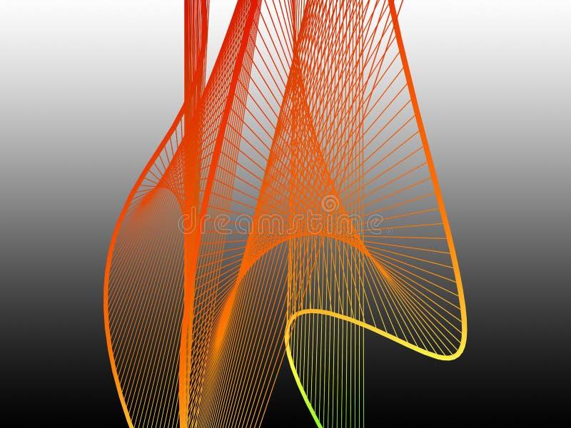 与五颜六色的梯度的动态和明亮的线性螺旋 图库摄影