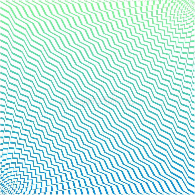 与五颜六色的波浪实线的几何背景 ?? 库存例证