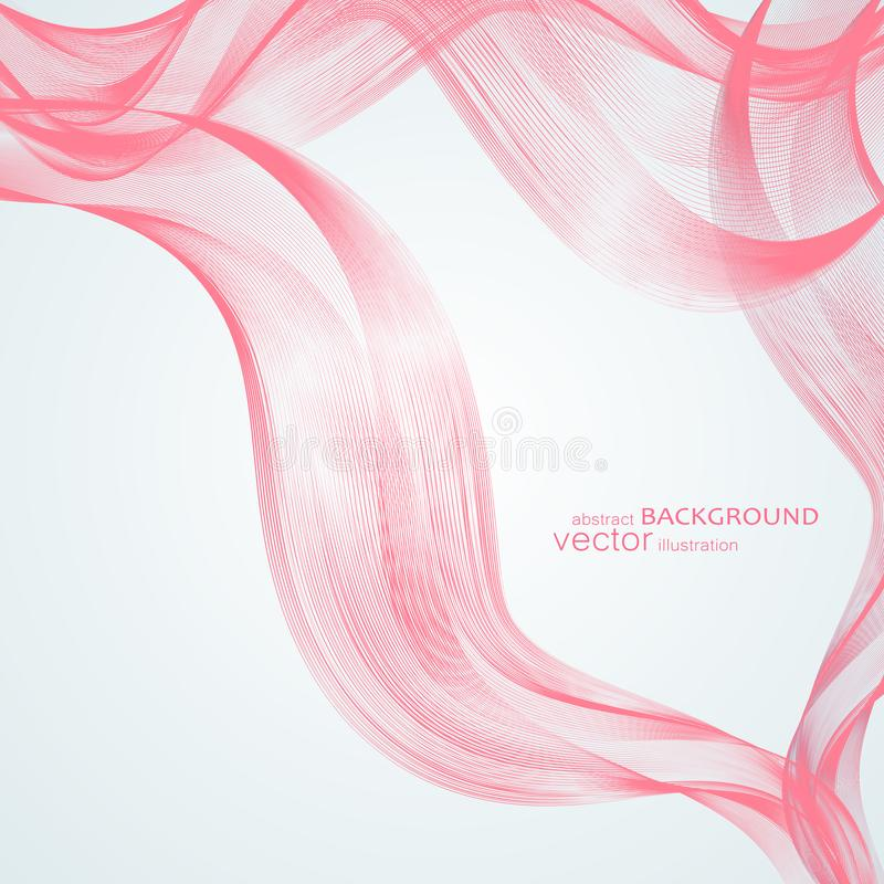 与五颜六色的波浪线的抽象背景 典雅的波浪设计 传染媒介技术 向量例证
