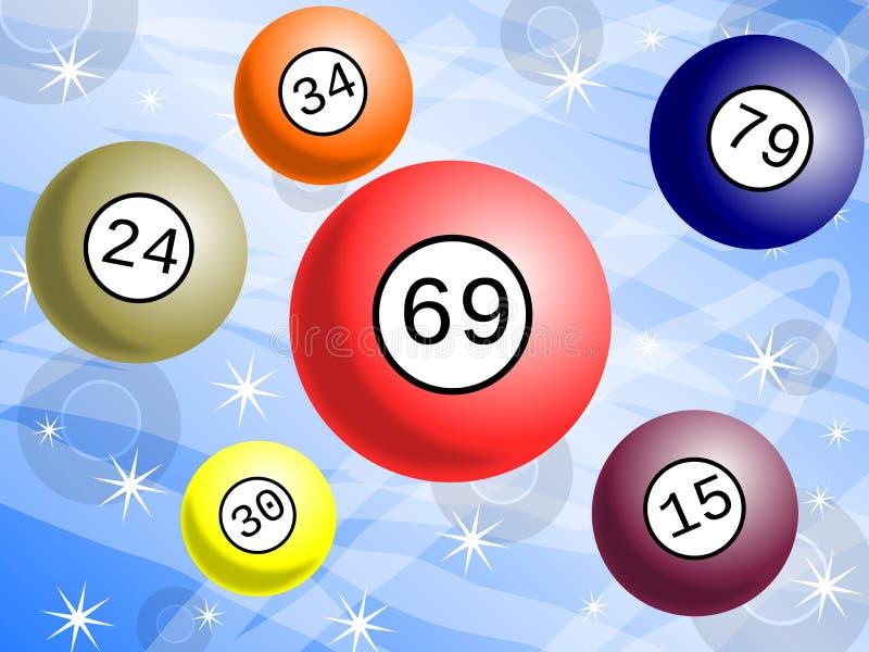 与五颜六色的球的抽奖背景 向量例证