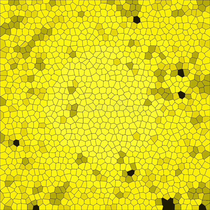 与五颜六色的纹理的抽象背景 黄色蜂窝正方形瓦片 向量例证