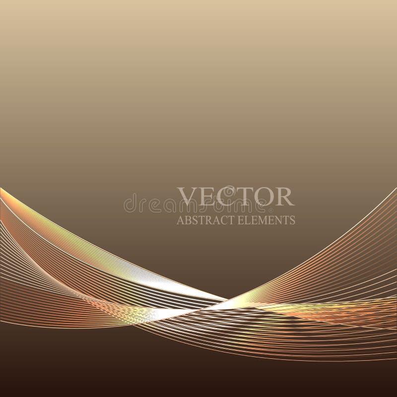 与五颜六色的螺纹的传染媒介抽象棕色背景 向量例证