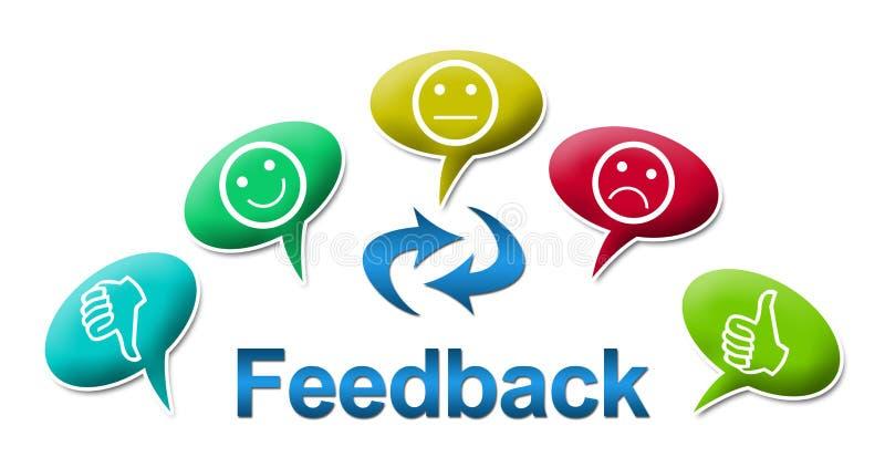 与五颜六色的评论标志的反馈 向量例证