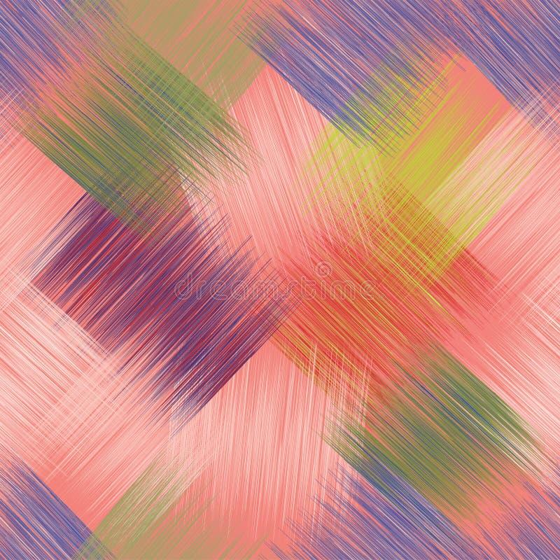 与五颜六色的难看的东西stripeÑ ‹的明亮的对角无缝的样式 皇族释放例证