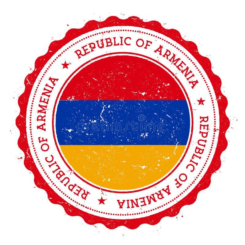 与亚美尼亚旗子的难看的东西不加考虑表赞同的人 皇族释放例证