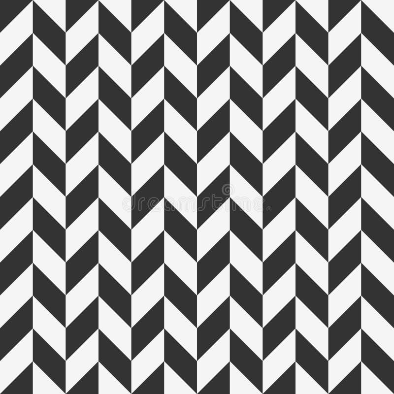 与交替的平行四边形的方格的无缝的样式 向量例证