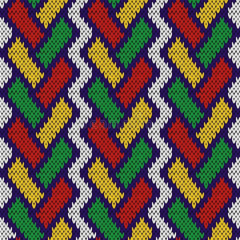与交错的线的被编织的无缝的样式 向量例证