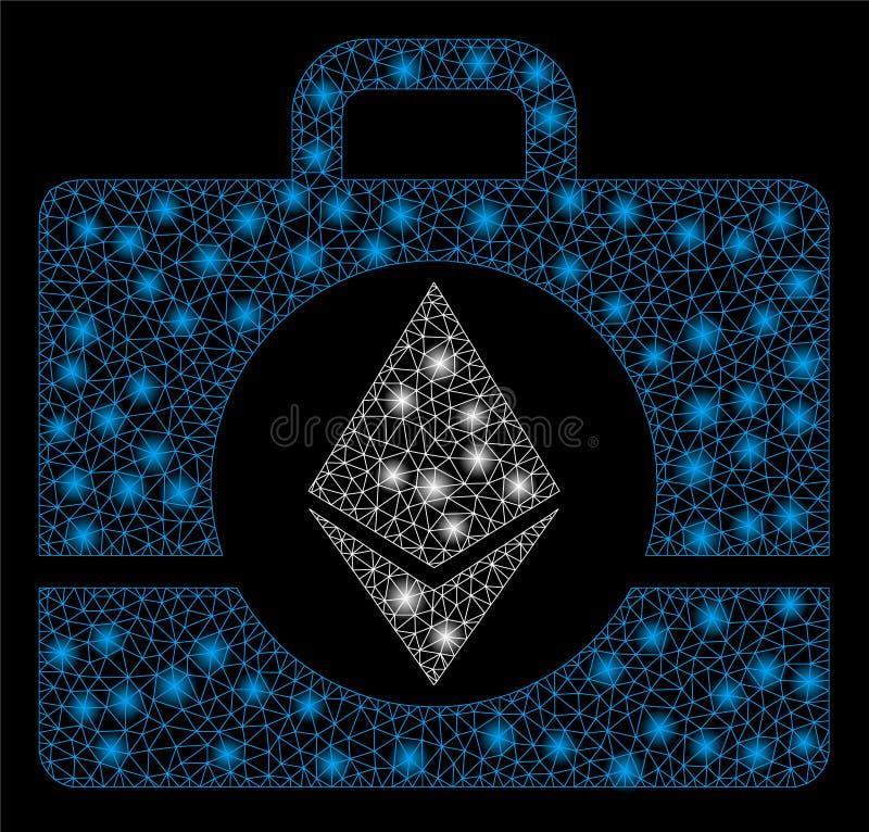 与亮点的明亮的滤网尸体Ethereum案件 皇族释放例证