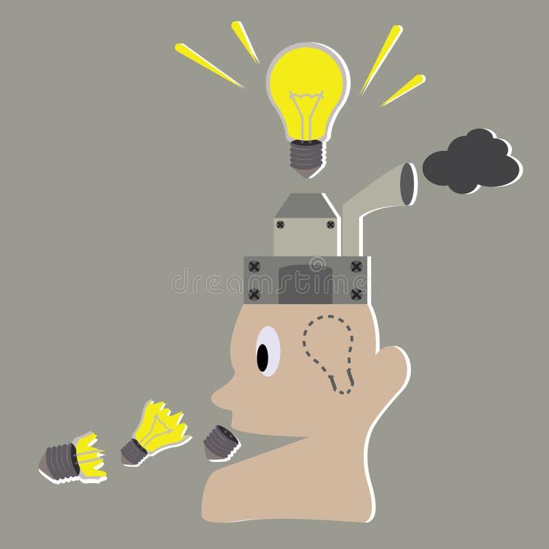 与人的轻的想法概念创造想法 向量例证