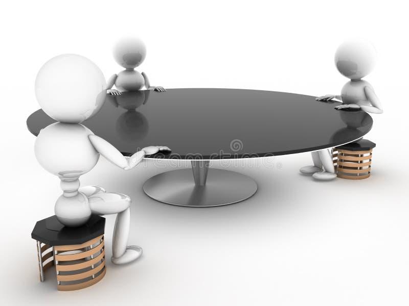 与人#3的谈判桌 向量例证