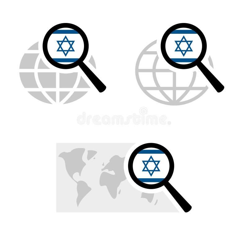 与以色列旗子的查寻象 库存例证
