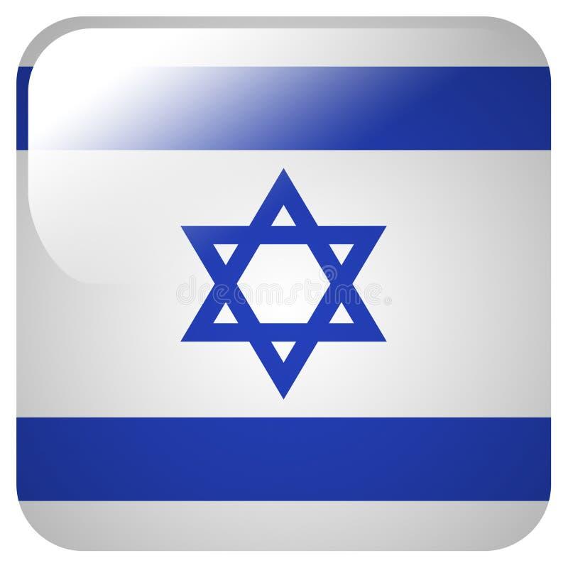 与以色列的旗子的光滑的象 皇族释放例证