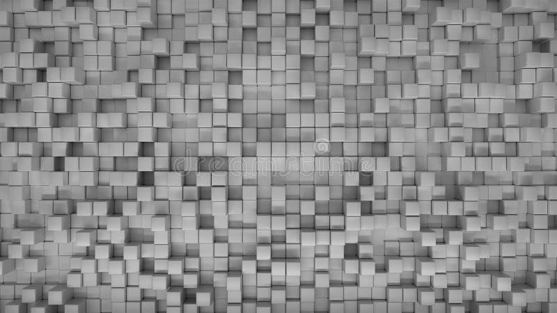 与任意位置的抽象3D箱子背景 皇族释放例证