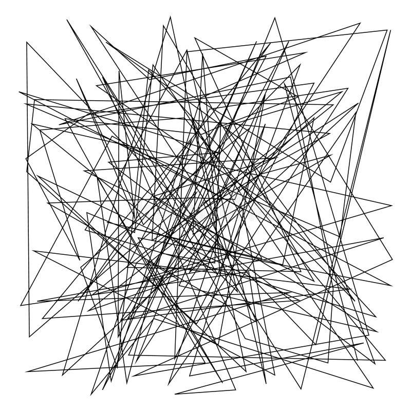 与任意混乱线的不对称的纹理,抽象几何样式 皇族释放例证
