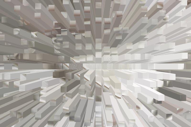 与任意高度的被堆积的专栏-在匹配从上面看的淡色duce颜色的许多长的方形的立方体块-适用于b 向量例证