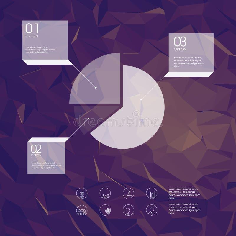 与企业象和饼的Infographics模板 皇族释放例证