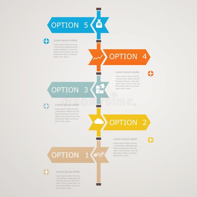 与企业象的时间安排Infographic,对成功的步结构 向量例证