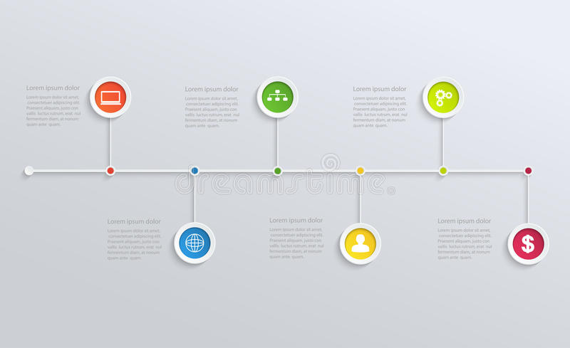 与企业象的结构时间安排 向量例证