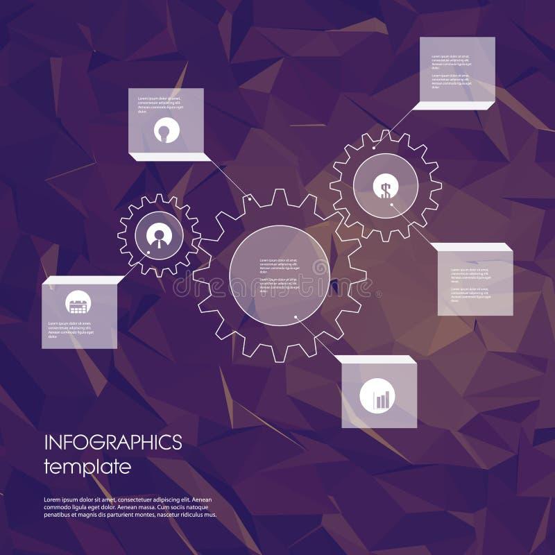 与企业象的Infographics模板和 皇族释放例证