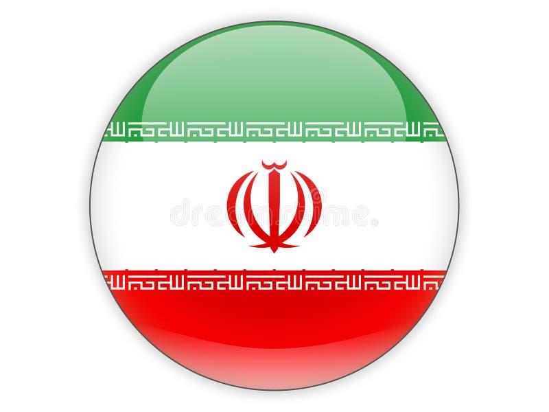 与伊朗的旗子的圆的象 皇族释放例证