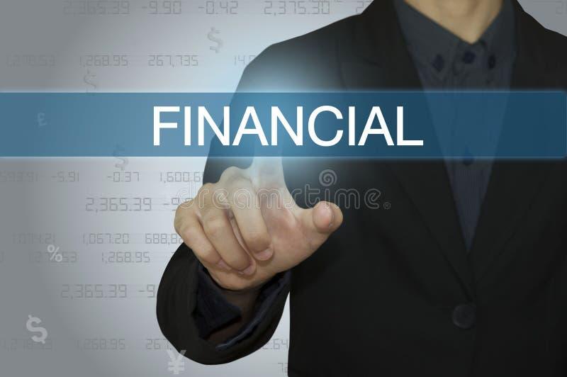 与会计和财政概念的事务 免版税库存图片