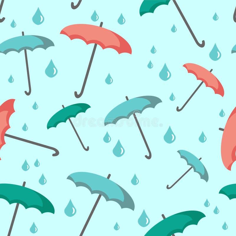 与伞的无缝的背景 皇族释放例证