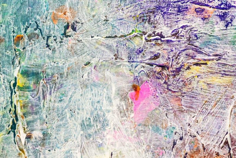 与传神明亮的油漆冲程的手画背景 免版税库存照片