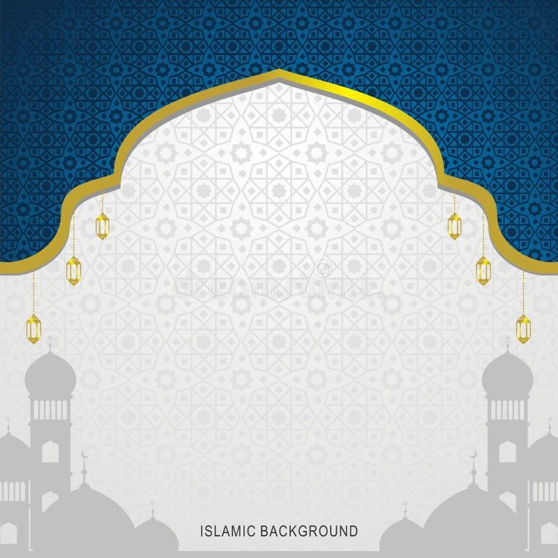 与传统阿拉伯装饰品的抽象背景 伊斯兰的背景 向量例证