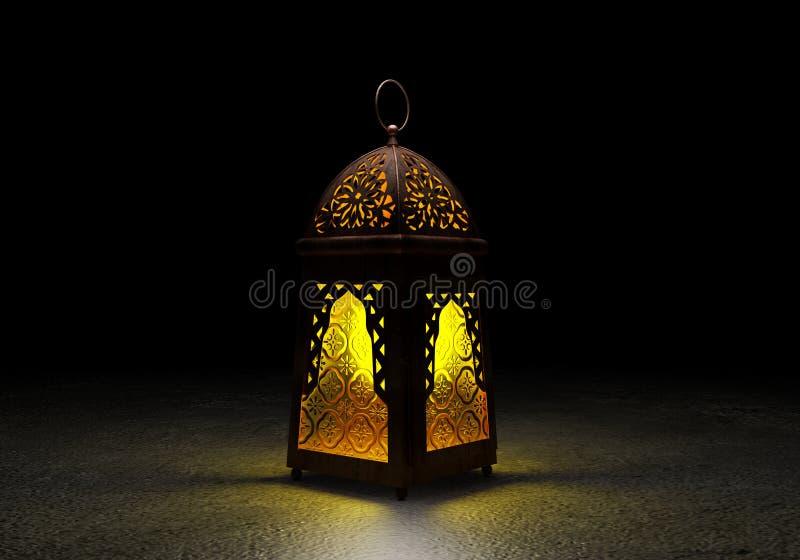与传统阿拉伯语l的赖买丹月Kareem美丽的贺卡 免版税库存图片