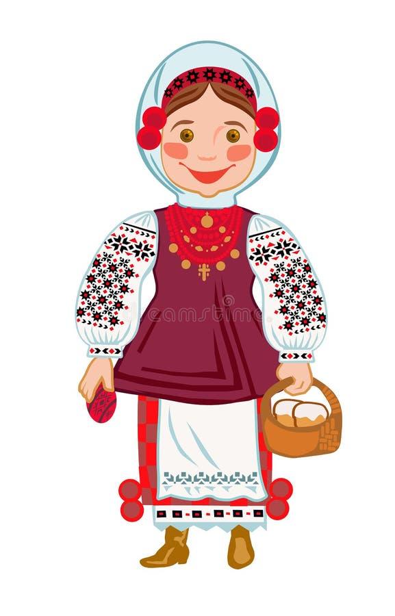 与传统蛋糕的乌克兰语复活节 库存例证