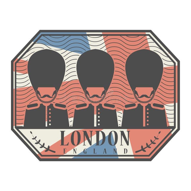 与伦敦,英国的抽象不加考虑表赞同的人 向量例证