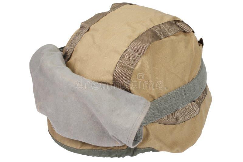 与伪装盖子和防护眼镜的凯夫拉尔盔甲 库存照片