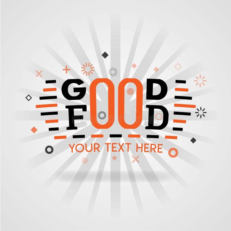 与低脂肪食谱和促进的食物比赛的好食物设计盖子指南烹调 库存例证