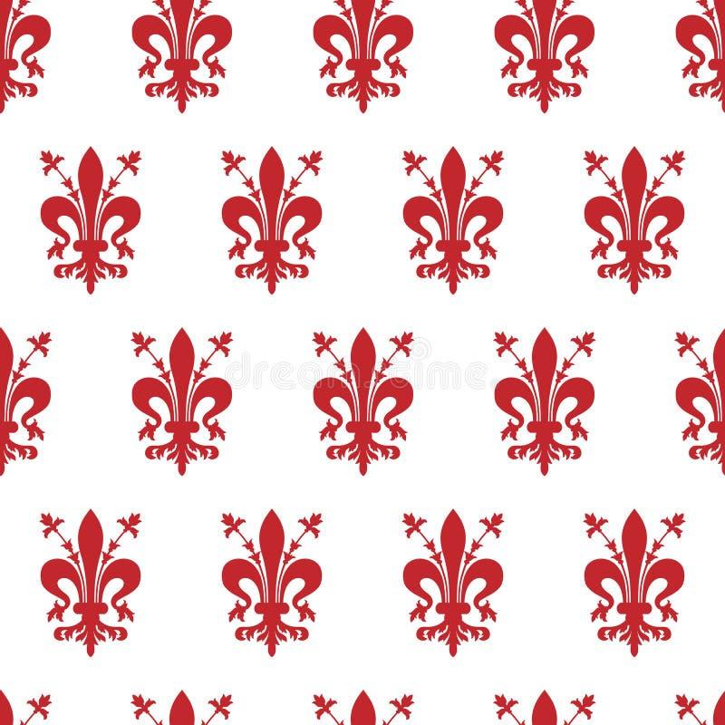 与佛罗伦萨象征的无缝的背景  免版税图库摄影