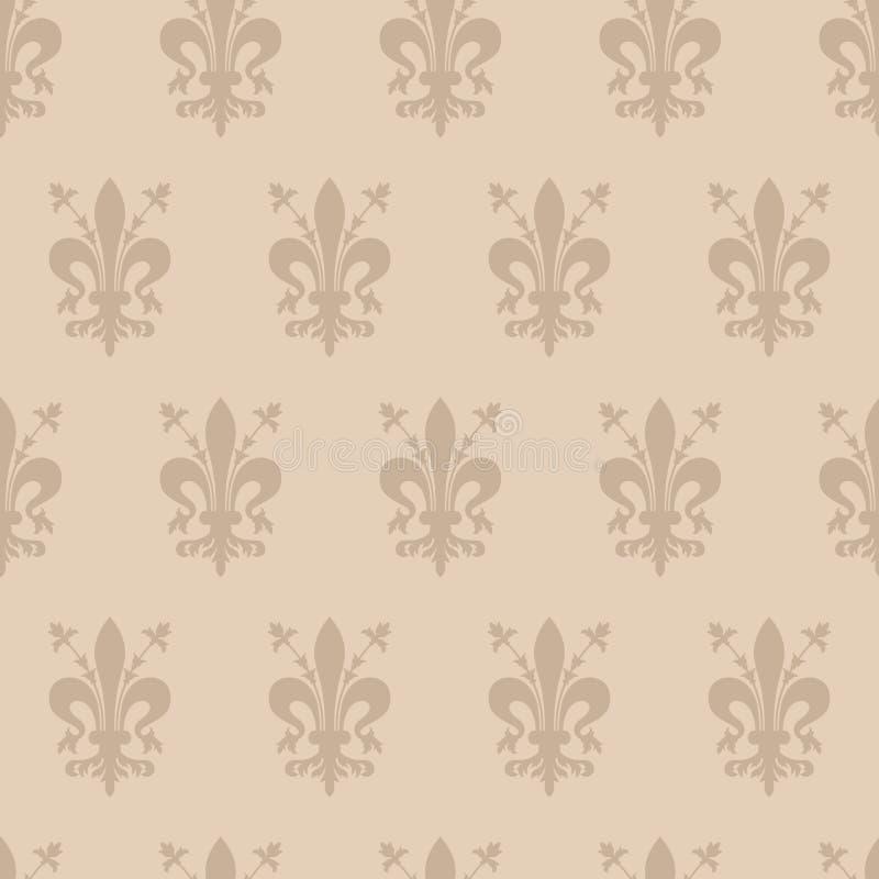 与佛罗伦萨象征的无缝的背景  免版税库存照片