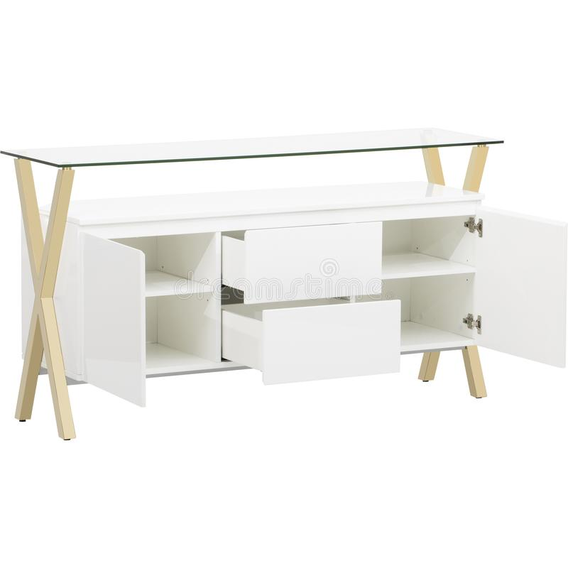 与作用的比赛时尚,停住您的别致的,与这个迷人的书桌的中世纪现代设计家庭办公室 库存图片
