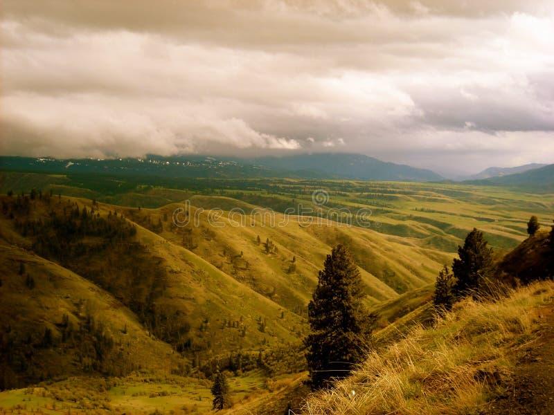 与使多云天空惊奇的美好的领域 库存照片
